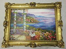 PAYSAGE IMAGE Peintures maison au bord du Lac Mouettes 90x70 MDF Paroi arrière