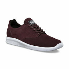 Vans Mens Iso 1.5 Sneakers Suede Iron Brown True White 9.5 New