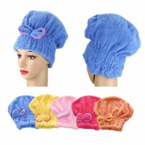 Hat Microfiber Quickly Dry Hair Hat Hair Towel Cap Quick Drying Bowknot Wrap