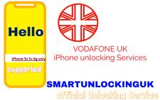 FAST Vodafone UK IPHONE 5 5s 6G  unlocking 2-business days