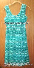 Calvin Klein Womens Size 6 Sheath Blue Green print Career Sleeveless Dress
