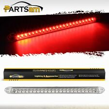 "17"" 23 LED Red Trailer Truck RV Stop Tail Rear Brake Light Bar Sealed Clear Lens"