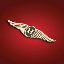 """Honda Show Chrome 3"""" Wide H Wing Gold Emblem 2-8"""