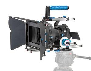 Wondlan DSLR Camera Stabilizer Rig Handle C-Cage  + Follow Focus + Matte Box