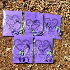 5x paternoster rigs 4/0-60lb,fishing lumo snapper jew boat beach Hand Tied line