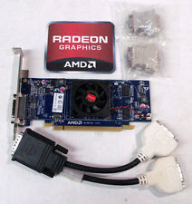PCIe x16 AMD Radeon HD5450 512MB DDR3 DMS-59 cable DVI VGA Windows 10,8,7