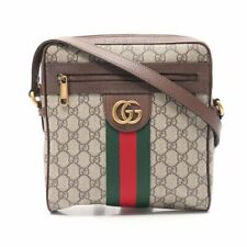 GUCCI Ophidia GG Small messenger bag shoulder bag PVC leather beige brown green