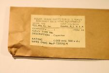 RADIO PARTS U.S NAVY AIRCRAFT RECEIVING EQUIPMENT ARB CONT.NOs.98559 ITEM 44