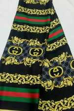 Italian Silk fabric - Gucci Designer inspired -  Sold in Meter