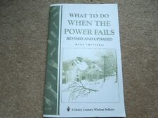 What To Do When The Power Fails Revised And Updated Book 32 pages NEW