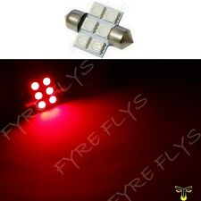 1 Red 31mm 6SMD festoon dome map interior LED light lamp DE3175 3022 3021 1xC3