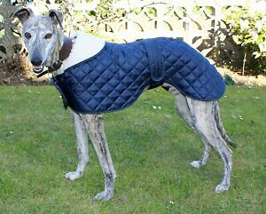 FACTORY SECOND - GREYHOUND / WHIPPET QUILTED ANORAK DOG COAT. MADE IN THE UK