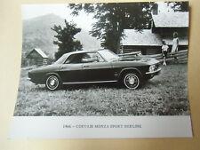 photo de presse originale  CHEVROLET CORVAIR MONZA SPORT BERLINE 1966