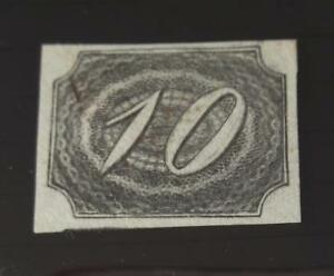Brazil Empire 1844 stamp #4 slanted numeral Issues CV 2016 U$ 600
