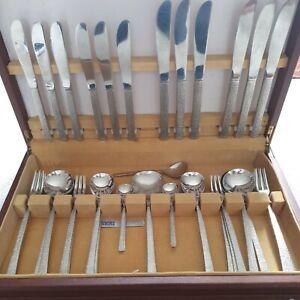 Vintage Viners Cutlery Set Studio 43 PIECES In Canteen