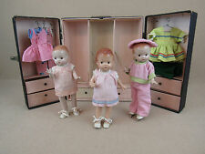 Vintage Effanbee Patsy & Patsyette Doll LOT with clothing & wardrobe trunk