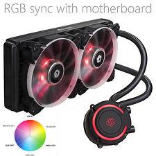 Id-Cooling Auraflow 240 Rgb Sync Aio Water Cooler,Rgb Pmw Fan,For Intel & Amd