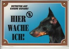 Warntafel Dobermann - 205 X 140 Mm