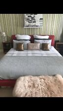 Red Super King Size Bed Leather