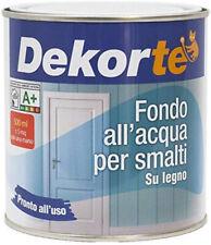 GDM-Fondo All'Acqua Per Smalti Su Legno, Dekortè, Colore: Bianco, 500 Ml