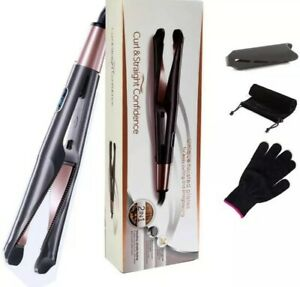Curl and Straight Confidence - Professional Hair Straightener and Curler