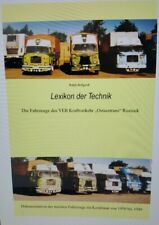 """Lexikon des VEB Kraftverkehr """"Ostseetrans"""" Rostock"""