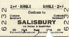 B.R.B. Edmondson Ticket - Cosham to Salisbury