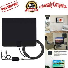 Flat Antenna Digital HD TV Amplified Mile Ultra Thin 100 Miles Range Indoor NEW