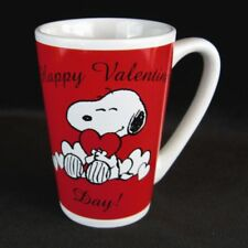 Snoopy Red Mug BE MY VALENTINE Day Ceramic Coffee Cup Love Hearts Peanuts Comics