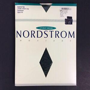 Nordstrom Pantyhose Size C Pine Green Control Top Lycra Sheer Sandalfoot