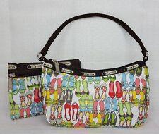 LeSportsac Small Purse W/ Bonus Cosmetic Bag Shoes Flats Heels Makeup Handbag