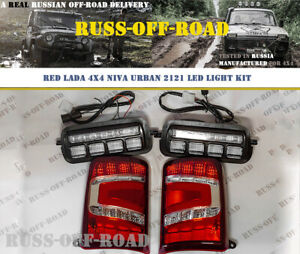 LADA NIVA 4x4 2121 URBAN HEADLIGHTS AND TAIL LED LIGHT KIT RED