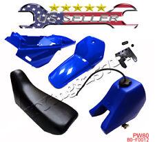 Yamaha PW80 PEEWEE PW 80 Plastic Fender Body Seat Gas Tank Kit Blue