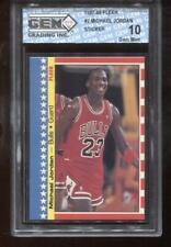 Michael Jordan 1987-88 Fleer #2 Sticker Chicago Bulls HOF GEM MINT 10