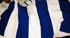 "RALPH LAUREN Full Double Bed Skirt Dust Ruffle 15"" Drop 5"" WIDE Blue Stripes"