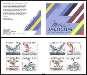 H431 Sweden 1992 Scott #1975-1978 Mare Balticum Birds of Baltic Czeslaw Slania