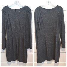 VANESSA BRUNO ATHE Grey Wool Cotton Knit Dress Long Sleeve Sz3 US S/M