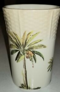 Croscill Palm Tree Port Of Call TUMBLER Vanity Bathroom Collection HARD TO FIND