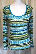 Op Juniors Long Sleeve V-Neck Top Size M 7/9