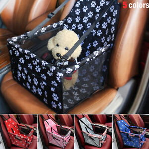 Dog Car Seat Belts Booster Travel Carrier Folding Bag for Pet Cat Puppy Portable