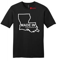 Made In Louisiana Funny Home State Pride Mens Soft T Shirt Holiday Gift Tee Z2