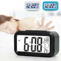Digital LCD Snooze Electronic Alarm Clock with LED Backlight Control Calendar