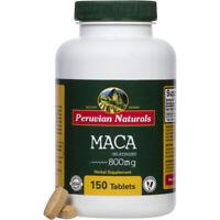 Organic Maca 800mg - 150 Tablets | Peruvian Naturals - Certified-organic