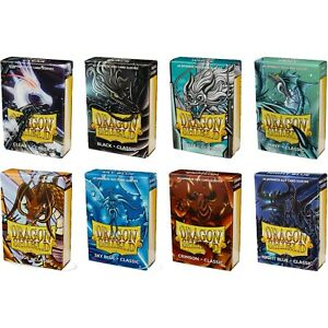 DRAGON SHIELD SMALL CARD SLEEVES CLASSIC GLOSS JAPANESE SIZE / YUGIOH SLEEVES 60