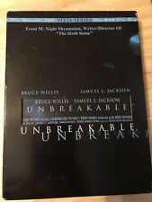 Unbreakable, Bruce Willis, Samuel L. Jackson, 2 disc set, original cover