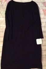 Ingrid & Isabel Maternity Dress, Stretch Floral Lace, Black, Large Nwt New