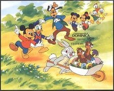 Dominica 1984 Disney/Easter Rabbit/Mickey/Donald/Goofy/Cartoon IMPERF m/s d00273