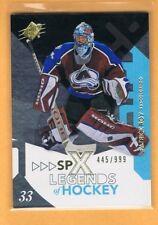 2010-11 SPx Legends of Hockey Patrick Roy 445/999 Avalanche #104