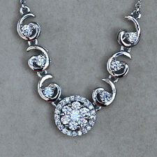 20.9CT 18K White Gold Plated Exquisite Crystal Pendant Necklace New Style MSZ10