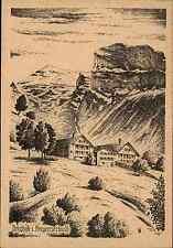 Künstlerkarte Kunst PK ~1940/50 Berghöfe im Bregenzerwald Vorarlberg Österreich